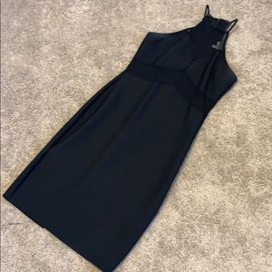 High neck cut out LBD